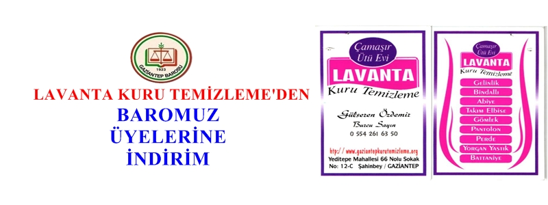 LAVANTA KURU TEMİZLEME'DEN BAROMUZ  ÜYELERİNE  İNDİRİM