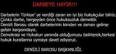DARBEYE HAYIR!