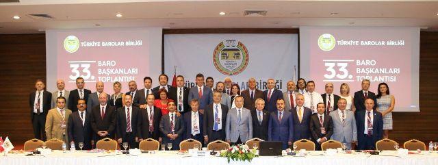33. Baro Başkanları Toplantısı Ankara'da Gerçekleşti