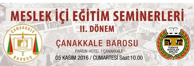 """""""CMK - İSTİNAF """" Meslekiçi Eğitim Seminerimiz 5 Kasım'da Parion Otel'de"""