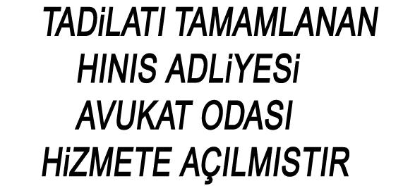 HINIS ADLİYESİ BARO ODASI