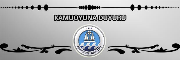 Trabzon Barosu Kadın Hakları Komisyonu Kamuoyu Duyurusu