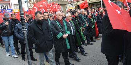 """BAROMUZ """"TERÖRE LANET ve POLİSİMİZE DESTEK"""" YÜRÜYÜŞÜNE KATILDI"""