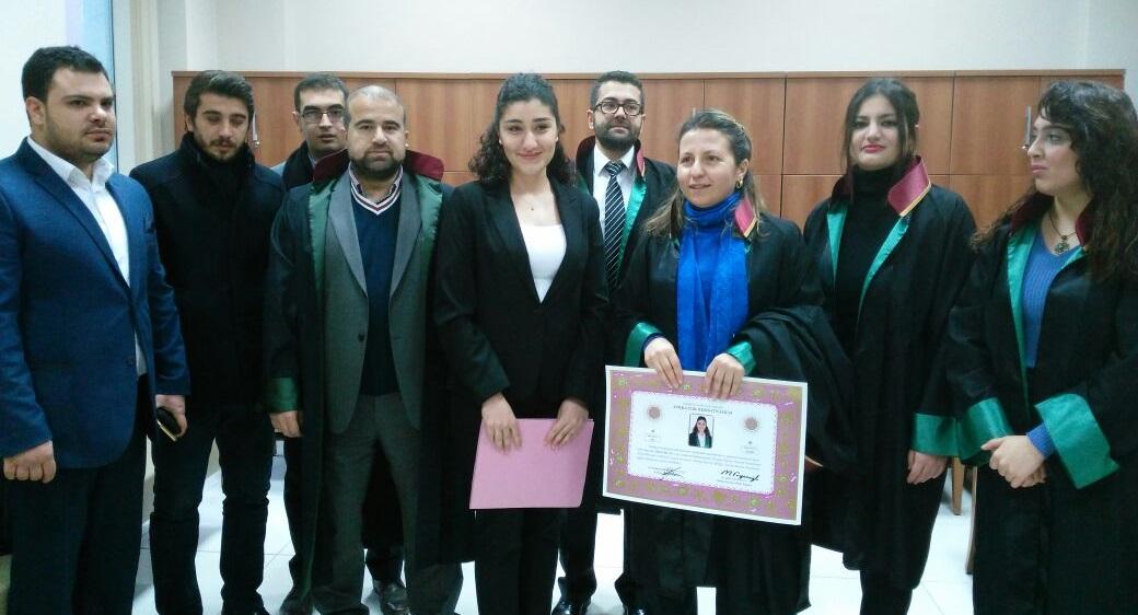Özge Özcan'ın Yemin Töreni