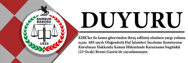 DUYURU - KHK/685