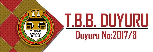 TBB DUYURU NO:2017/8