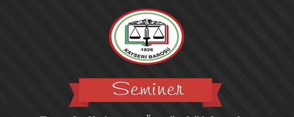 SEMİNERE DAVET