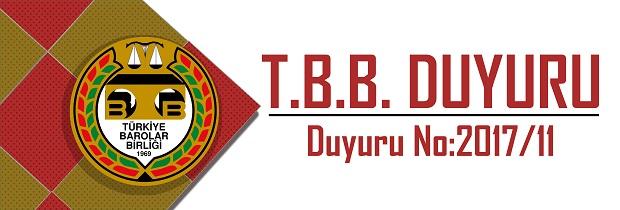 TBB DUYURU NO: 2017/11