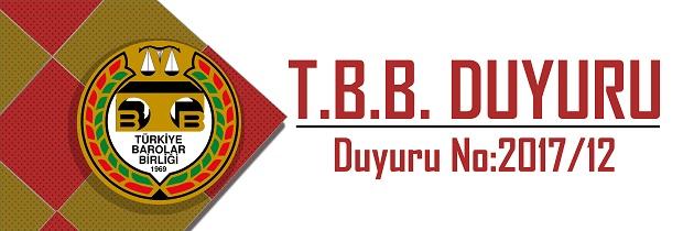 TBB DUYURU NO: 2017/12