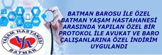 Özel Batman Yaşam Hastanesi ile protokol imzalandı