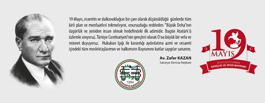 """BAŞKAN KAZAN'DAN GENÇLİĞE MESAJ:  """"19 MAYIS RUHU SİZİ BEKLİYOR"""""""