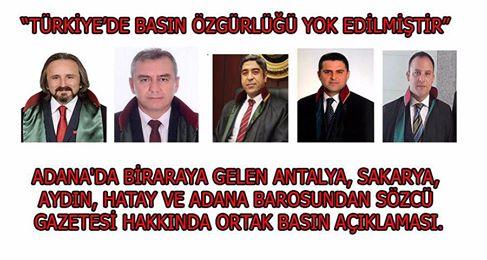 """Basın Açıklaması """"Türkiye' de Basın Özgürlüğü Yok Edilmiştir."""""""