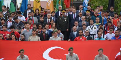 19 Mayıs Atatürk'ü Anma, Gençlik ve Spor Bayramı Kutlama Etkinliklerine Baro Başkanı Av. Erol ÇAKIR Katıldı.
