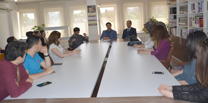 Baro Başkanı ve Saymanının Katılımıyla Stajyer Avukatlar Toplantısı