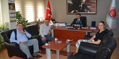 Kırıkkale 2. Ağır Ceza Mahkemesi Başkanı Eray TEMİZKAN ve 1. Aile Mahkemesi Hakimi Ceyhan TEMİZKAN Baromuzu Ziyaret Etti