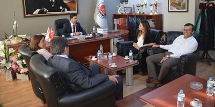 Kırıkkale 2. Ağır Ceza Mahkemesi Başkanı Eray TEMİZKAN ve Hakimler Ceyhan TEMİZKAN, Yasemin BAŞ'tan Bayram Tebrik Ziyareti