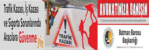 TRAFİK KAZASI,İŞ KAZASI VE SİGORTA SORUNLARINDA ARACILARA GÜVENMEYİN