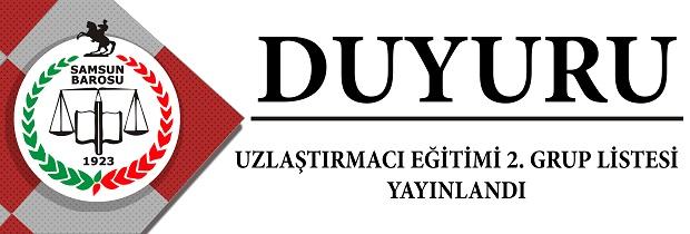 UZLAŞTIRMACI EĞİTİMİ 2. GRUP LİSTESİ